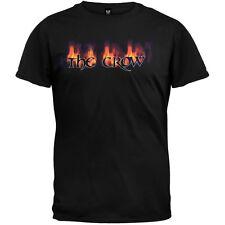 The Crow - Flaming Logo Adult Mens T-Shirt