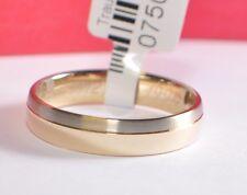1 Fede nuziale Anello di fidanzamento 5mm Oro bianco/Oro giallo