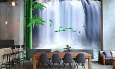 3D Green Bamboo Waterfall 778 Wall Paper Wall Print Decal Wall AJ WALLPAPER CA