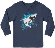 Threadrock Kids Shark Toddler Long Sleeve T-shirt Fish Animal Wildlife Water