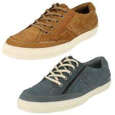 R10B Maverick Mens Flat Lace Up Black Shoe A2R120