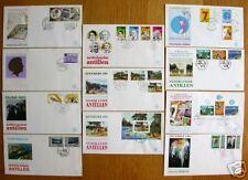 Alle FDC's van 1989 Ned Antillen blanco 11 stuks