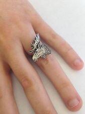A27 MOOSE's Head Peltro Inglese, anello donna regolabile handmade in Sheffield