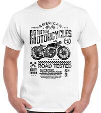 American Personalizzato Motociclette da Uomo Biker T-Shirt Moto Bici Chopper Indiano