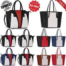 New Ladies Designer Shoulder Tote Bags Womens Fashion Faux Leather Handbags