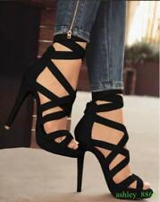 Womens Heels Platform Strappy High Heels Slim Casual Summer Sexy Party Stiletto
