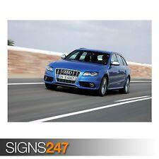 AUDI S4 AVANT CAR 12 (AC850) CAR POSTER - Photo Poster Print Art A0 A1 A2 A3 A4