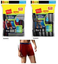 NEW Hanes Men's FreshIQ ComfortSoft Boxer Briefs 6-Pk (5+1 Free) S M L XL