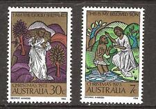 Australia # 582-3 Mnh Christmas 1973 The Good Shepherd