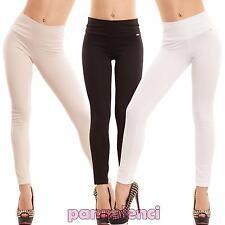Pantaloni donna sigaretta elastici skinny slim eleganti vita alta nuovi CC-1348