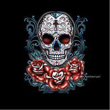 Rockabilly Tattoo design Flash muerte totenkopf skull T-Shirt *1064 bl
