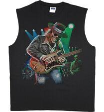 Men's Sleeveless Muscle Tee Shirt Tank Top Texas Blues Guitar Skull Decal