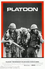 Platoon 1987 Movie Poster Canvas Wall Art Film Print Charlie Sheen Jonny Depp