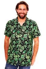 Funky Camisa Hawaiana Skull Verde