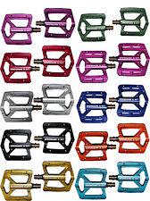 ALUMINIO PEDALES DE PLATAFORMA Erdmann x-3 Titanio Con Eje en varios colores