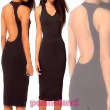 Robe femme minirobe noir moulant dos nu élégant neuf DL-1204