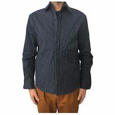 INDIGO AND GOODS men's shirts blue striped white mod COPINGER SHIRT 100% cotton