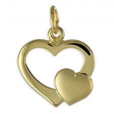 Herz Anhänger 333 Gold 40,45,50,55 cm mit verschied. Goldketten 333 gestempelt