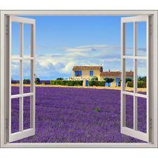 Sticker fenêtre déco Provence Lavandes réf 5482 5482