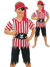 Caribbean Pirate Fancy Dress Boys Costume Kids Book Week Halloween Child Outfit