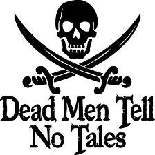Custom Car Decal Dead Men Tell No Tales Pirates of the Caribbean Sparrow