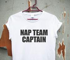 Nap Team Captain - funny humorous T-shirt sleep womens ladies lazy slogan top