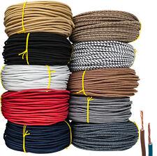 Textilkabel Stoffkabel Lampen-Kabel 2-adrig Zick-Zack Stromkabel Elektrokabel  6