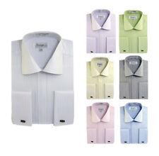 Men's Classic Cotton Blend Striped Dress Shirt SG30 French Cuff