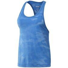 New Reebok Sleeveless Vest Tank Top - Blue - Ladies Womens Gym Training Fitness
