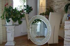 Runder Griechischer Spiegel Weiß Wandspiegel Flurspiegel Versa Serie 100cm Antik