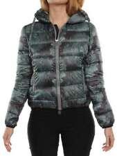 JIJIL PIUMINO VERDE FLOREALE J60029 giacca invernale piumino donna
