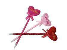 Novelty Beautiful Heart I LOVE YOU Fluffy Gift Ballpoint Stationery Pen