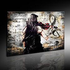 Leinwand Bild Frau, Geige / Violine Bilder mit Keilrahmen Kunstdruck kein Poster