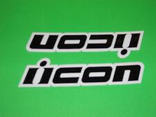 WHITE & BLACK ICON HONDA SUZUKI YAMAHA KAWASAKI MOTORCYCLE DECALS STICKERS