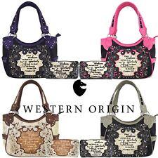 Scripture Bible Verse Western Purses Country Handbags Women Shoulder Bags Wallet