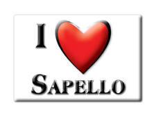 SOUVENIR USA - NEW MEXICO FRIDGE MAGNET I LOVE SAPELLO (SAN MIGUEL COUNTY)