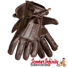 Scooter Gloves / Corazzo Cordero Retro Mod Brown Leather Vespa PX GTS Classic