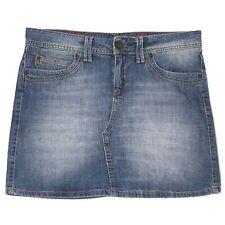 21585 Cross señora vaqueros rock mini falda skirt mariella Denim Blue used  azul 6d547bd3232a