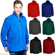Mens Premium Fleece Jacket Size XS to 4XL Thick 380gsm Warm Full Zip