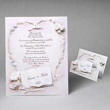 EDLE Hochzeitskarten, Hochzeitseinladungen mit Umschlag