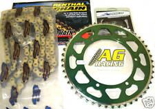 Kawasaki KX 250 92-07 Renthal 520 R3 Chain & Sprocket Set 13T 48T Green