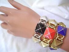 New BEBE in Gold Orange Geometric Bracelet *U CHOOSE* Neu Armband
