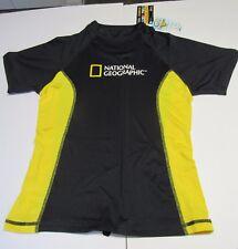 National Geographic Snorkeler Womens Short Sleeve Classic  Shirt Black  Yellow