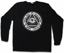 ILLUMINATI EYE LANGARM T-SHIRT Society Free Masons Loge Lodge Illumiatus