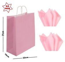 Light Pink A4 Paper Party Gift Bags & Tissue Wrap ~ Boutique Shop Carrier Bag