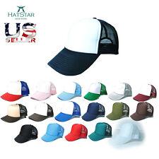 Summer Trucker Mesh Foam Baseball Cap Adjustable Snap back Hat Various Colors