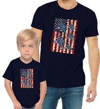 F-16 Fighting Falcon US Flag Adults Mans & Womens & Kids & Boy & Girl T-Shirt