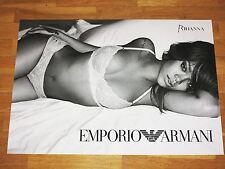 Rihanna PROMO poster pubblicitario 2 by Emporio Armani/70 x 50 cm MEGA RAR MINT NUOVO