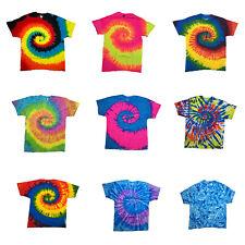 Tie Die T Shirt Hippie Rainbow Hobo Woodstock Tye Dye Retro Bohemian 100% COTT