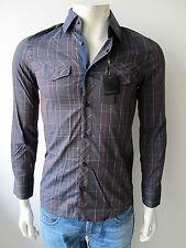 Primo Emporio Shirt Overhemd Hemd Blue Shirt Camicia Kariert Neu M XXL